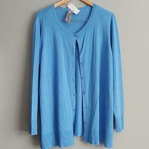 NWT Penningtons blue cardigan - 1X